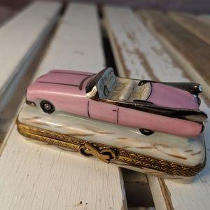 Limoges france trinket box seint main vintage car